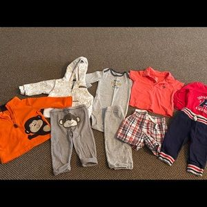 Bundle: 9 month Carter's outfits
